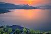 Sunrise over Qiandao lake, Zhejiang China (Feng Wei Photography) Tags: traveldestinations color qiandaolake serene landmark hangzhou china landscape highangleview zhejiang relax serenity beautyinnature travel asia dawn island outdoors scenicsnature peaceful tourism sunrise horizontal cn