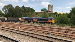66772 (Sam Tait) Tags: class 66 freight diesel loco locomotive leicester sidings up slow mosque gbrf shed