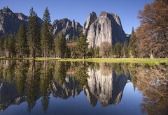 Yosemite reflection 2 (Sharpshooter Alex) Tags: nationalpark yosemite landscape river water reflection mountains trees