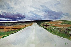 Saddleworth moor by SDB Designs (SDB Designs) Tags: saddleworthmoor sdb designs sdbdesigns manchester watercolour colour windmill mrbrown primeminister recession landscape painting road grass sky tundra isolation wastelands waste yorkshire westyorkshire lancastershire sowerby bridge halifax