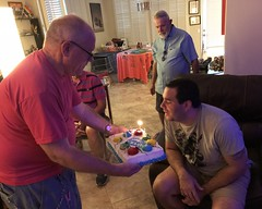 July 15, 2018 (13) (gaymay) Tags: california desert gay love palmsprings riversidecounty coachellavalley sonorandesert dareksparty birthdayparty friends blazepizza inside cake candles