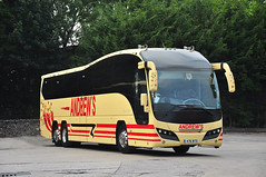 Andrews, Tideswell 476 BTO (Martha R Hogwash) Tags: andrews tideswell 476 bto volvo b12bt plaxton elite triaxle country lion northampton team coach l1cln ku58 xfy