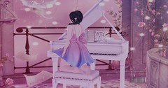 ✿ Dream ✿ (Thaisakerman) Tags: decor dream sl secondlife secondlifephoto sencondlife cute pink kawaii photosecondlife piano flores blogger