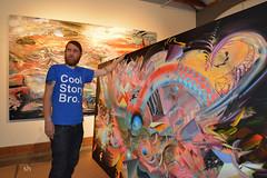 13-Mar _956x-72 (Scott Hess) Tags: damon soule installing new painting cosmic terrain petaluma arts center