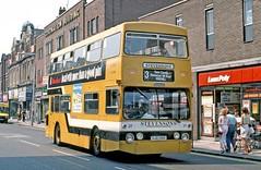 Stevensons, Uttoxeter: 27 (OJD136R) in Station Street, Burton on Trent (Mega Anorak) Tags: bus leyland fleetline fe30agr parkroyal dms stevensonsuttoxeter londontransport burtonontrent