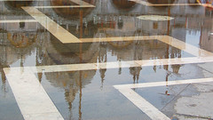San Marco on a heavy rainy day (Lucia Cysneiros) Tags: italia veneza reflexos reflections venezia