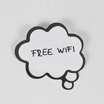 Free wifi written on thought cloud thumbnail