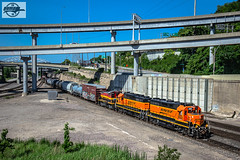 Southbound BNSF Transfer Train at Kansas City, MO (Mo-Pump) Tags: train railroad railfan railroader railway railroading locomotive
