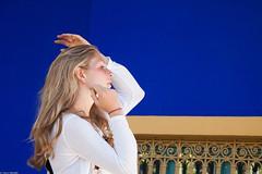 Profile (thierry_meunier) Tags: maroc morocco bleu blonde blue city femme garden jardin profil profile travel ville voyage woman otw majorelle