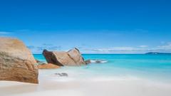 Stepping Stones (duncan_mclean) Tags: leefilters landscape vacaction littlestopper le seychelles holiday waves paradise longexposure beach beautiful turquoise seascape praslin tropical anse georgette ansegeorgette