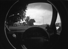 img011 (welshdude1991) Tags: lomography bw cats fisheye ilford 35mmfilm pov pointofview cars