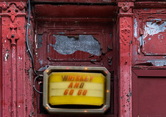 Whiskey and Go Go (Dalliance with Light (Andy Farmer)) Tags: wood eraserhood decay gogobar street whiskey dilapidated old trestleinn sign weathered philadelphia philly pennsylvania unitedstates us