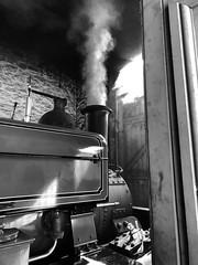 Beamish Museum Engine House (remenos23) Tags: iphone8plus iphone beamish train locomotive steam monochrome