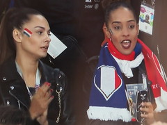 Wags (knightbefore_99) Tags: 2018 football futbol worldcup russia game beautiful awesome wags french france bimbo bleu screenshot tv scary yikes dumb