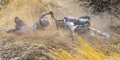 One second you're racing up a hill... (maytag97) Tags: maytag97 nikon d750 tamron 150600 150 600 motorcycle race racer dirt hillclimb hill climb crash fall dirtbike compete competitive motorsport