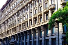 Windows & balconies (INE) (Fnikos) Tags: street building architecture edificio edifici balcony window door column tree nature sculpture outdoor