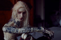 Get out of our head 2 (Nattmaran) Tags: doll balljointeddoll varg blackmetal dark inked tattoo piercing
