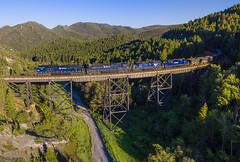 America The Beautiful: Part 2 (Nolan Majcher) Tags: mrl emd sd70ace 4402 4403 skyline mt montana trestle