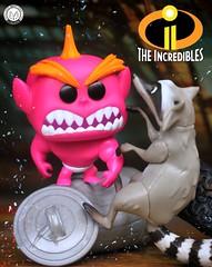 Jack Jack Vs Raccoon (PrinceMatiyo) Tags: popvinyl funko toyphotography disney pixar theincredibles2 raccoon jackjack
