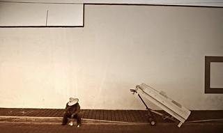 El descanso del vendedor de cama