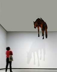 La Ballade de Trotski (Le.Patou) Tags: paris neuilly musée museum fondation foundation frank gehry moderne modern sculpture cheval brun blanc pendu hung white brown horse