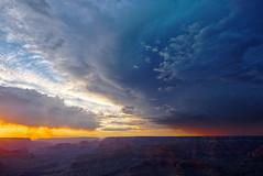 DSC_0533-535 hermits rest monsoon at sunset hdr 850 (guine) Tags: grandcanyon grandcanyonnationalpark canyon sunset clouds monsoon storm weather hdr qtpfsgui luminance