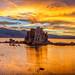 Golden Mono Lake Sunset