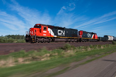 Built to Last and Go Fast (Jake Branson) Tags: train railroad locomotive emd sd403 sd45t2 canadian national cn dmir 402 sd402w iron range minnesota mn tunnel motor