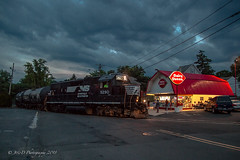 Summer Nights @ Morrisville, PA (Darryl Rule's Photography) Tags: 2018 aestaley buckscounty cpdq conrail conrailsharedassets dairyqueen delmorrave july local morrisville night oldline pa pc prr penncentral pennsy pennsylvania pennsylvaniarailroad railroad railroads staleylocal streetrunning summer sunset tollbrothers train trains ypmor1mor1
