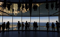 CN Tower 3 (John G Briggs) Tags: cn tower observation floor toronto summer late afternoon silouette