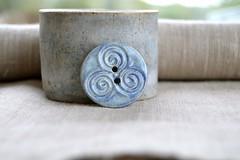 triskele button (Cherryhill Studio) Tags: ceramic handcrafted buttons ceramicbuttons celticspiral celtic ireland