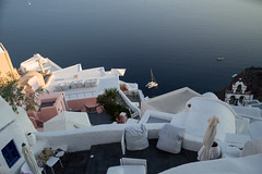 Whitewashed Houses and Church on Cliffs with Sea View in Oia, Santorini, Cyclades, Greece (MilesAstray) Tags: balkans building cyclades europe greece island mediterranean architecture backdrop balcony bay bell blue boat caldera church city cliff coast dome dusk exterior greek historic holiday honeymoon house nature oia old outdoor panorama picturesque rock romantic santorini sea sky stone street summer sun sunset terrace town travel view vista whitewashed yacht