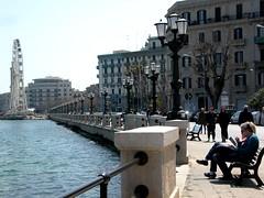 Stop (PaulaCamara) Tags: bari ital italia italy sea mar wheel bench noria banco vistas photo street photography streetphotography europa europe calle fotografía foto ramephotography rame
