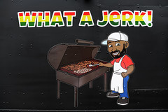 What A Jerk (Anthony Mark Images) Tags: vendor whatajerk jamaicanfood jerkchicken jerkpork jamaican foodtruck sign ad bbq artwork iriemuiscfestivl2018 mississauga ontario canada caribbeanmusic caribbean sundaylights d850 nikon