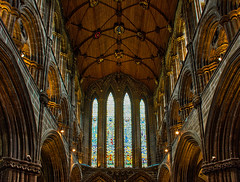 Glasgow Cathedral (dougbank) Tags: scotland cathedral church inside indoors medieval hdr aurorahdr horizontal stainedglass
