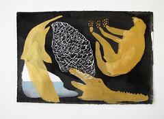 Golden Creatures (benconservato) Tags: benconservato emmakidd painting art illustration primate portrait artbrut sketch paint