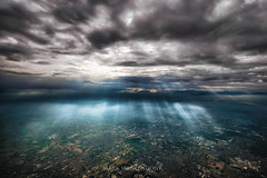 Let there be light (mark.wagtendonk) Tags: light clouds windowview italy flightdeck view overview italia
