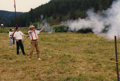 Boom! (twm1340) Tags: black powder rifle muzzle loading loader caplock flintlock mountain man rendezvous shoot target conifer nmlra csmlra co colorado