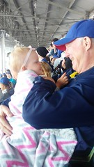 "Dani with Grandpa Miller at the Cubs Game • <a style=""font-size:0.8em;"" href=""http://www.flickr.com/photos/109120354@N07/43131626551/"" target=""_blank"">View on Flickr</a>"