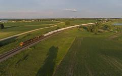BNSF Westbound Manifest - Lake Park, MN (rathman11) Tags: train locomotive railroad bnsf bnsfrailway staplessubdivision lakeparkmn manifesttrain drone aerialphotography dronephotography djiphantompro4v20 bnsfstaplessub