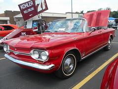 1964 Chevy Corvair Monza Spyder (splattergraphics) Tags: 1964 chevy corvair monza spyder convertible carshow churchoftheopendoor yorkpa