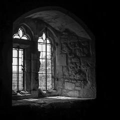 What Light from yonder window.... (Ian Johnston LRPS) Tags: newport england unitedkingdom gb window mono p900 jpg ligh yonder castle stone dark square 2018