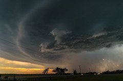 Stormy Sunset (mesocyclone70) Tags: sunset thunderstorm storm evening stormchase chase colour usa oklahoma therebeastormabrewin
