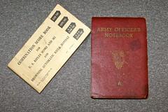 WW-2 U.S. Notebooks (Pacific Kilroy) Tags: ww2 wwii us army soldier personal relic artifact militaria memorabilia worldwarii personalitems pacifictheater notebook record officer rifle scorecard paper book riflerange