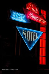 Pink Champagne Motel (SupersonicNJ) Tags: wildwood nj newjersey neon signs sign retro vintage vacation shore jersey jerseyshore motel hotel night light lights