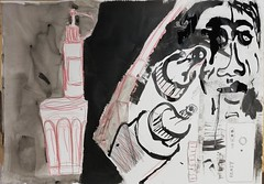 Räuber, hat da jemand Räuber gesagt (raumoberbayern) Tags: sketch painting sketchbook skizzenblock robbbilder acryl acrylic ink tusch buntstift crayon dina1