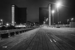 And all the lights that lead us there are blinding (MF[FR]) Tags: paris france îledefrance europe samsung nx1 black white noir et blanc national library bnf françois mitterrand wood bois architecture architectural lights lumières nuit night bâtiment buildings