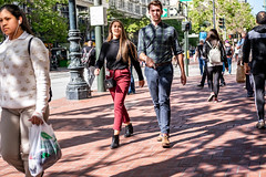 San Francisco 2018 (burnt dirt) Tags: sanfrancisco california vacation town city street road sidewalk crossing streetcar cablecar tree building store restaurant people person girl woman man couple group lovers friends family holdinghands candid documentary streetphotography turnaround portrait fujifilm xt1 color laugh smile young old asian latina white european europe korean chinese thai dress skirt denim shorts boots heels leather tights leggings yogapants shorthair longhair cellphone glasses sunglasses blonde brunette redhead tattoo pretty beautiful selfie fashion japanese red plaid bag blue