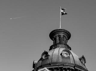 South Carolina State Capitol in B&W