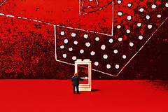 This is leading nowhere (jopperbok) Tags: wah jopperbok werehere hereios door doorway red black white dots dot circle circles surrealism tabletop